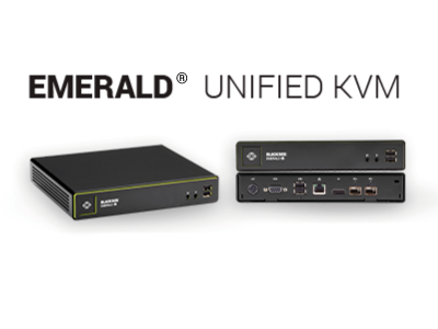 HD or 4K KVM over IP for Virtual and Physical Servers: Emerald™
